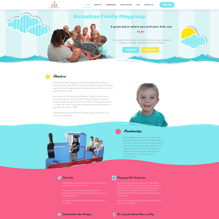 Busselton Family Playgroup - Site by Modernly